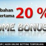 welcome bonus agen judi online